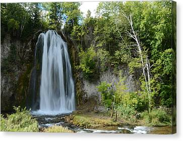 Spearfish Falls In Early September Canvas Print