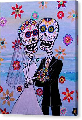 Special Day Dia De Los Muertos Wedding Canvas Print by Pristine Cartera Turkus