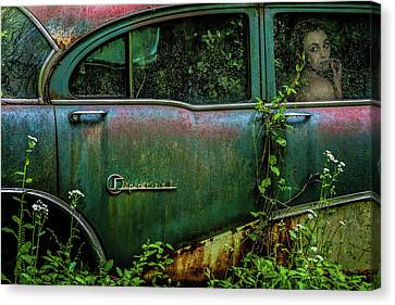 Rusted Cars Canvas Print - Special Girl by Tony Mearman
