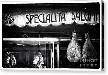 Special Salami Canvas Print by John Rizzuto