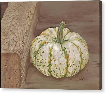 Speckled Gourd Canvas Print by Tracy Meola