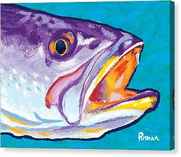Speckled Trout Canvas Print - Speckled Trout Colors by Kevin Putman