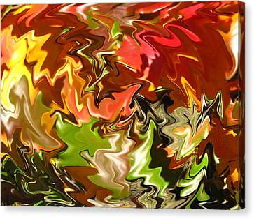 Wavy Canvas Print - Spectacular Colors Of Autumn by Barbara McDevitt