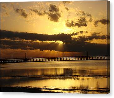 Canvas Print featuring the photograph Spectacular Sunrise Two by Linda Cox