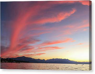 Spectacular Sunset Colors Canvas Print by Tom Norring