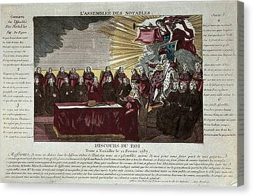 Speech Of Louis Xvi To The Assembly Canvas Print by Everett