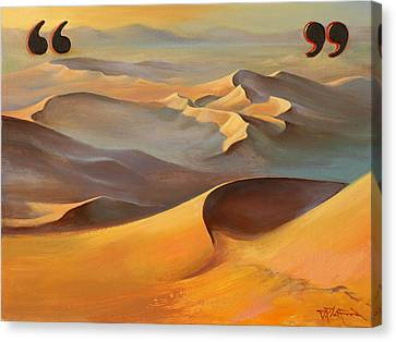 Canvas Print featuring the painting Speechless In The Sahara by Dave Platford