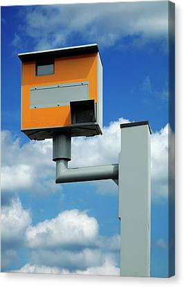 Traffic Enforcement Canvas Print - Speed Camera by Mark Sykes