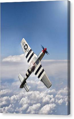 Vintage Air Planes Canvas Print - Speed Climb P-51 by Peter Chilelli