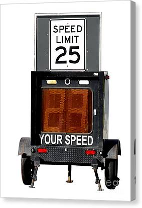 Speed Limit Monitor Canvas Print by Olivier Le Queinec