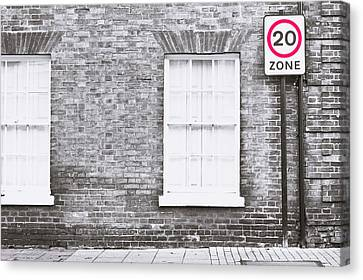 Traffic Enforcement Canvas Print - Speed Limit by Tom Gowanlock