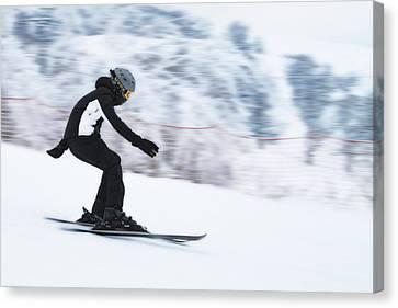 Speed On Snow Canvas Print by Vlad Baciu