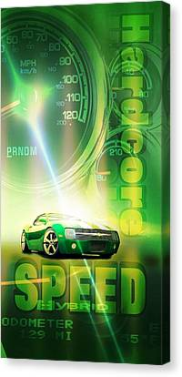 Speed Canvas Print by Pierre Chamblin