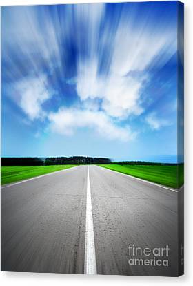 Speed Sky Canvas Print by Boon Mee