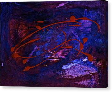 Canvas Print featuring the painting Speed by Tracey Myers