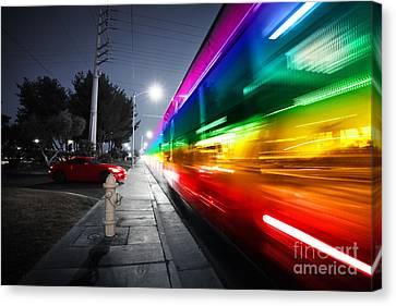 Speeding Bus Blurred Motion Canvas Print by Konstantin Sutyagin