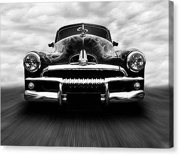 Canvas Print featuring the photograph Speeding Fj Holden by Keith Hawley