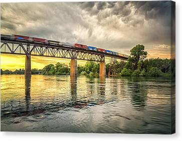 Speeding Reflections Canvas Print by Randy Wood
