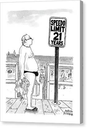 Speedo Limit: 21 Years Canvas Print by Marisa Acocella Marchetto