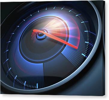 Speedometer Canvas Print - Speedometer by Ktsdesign