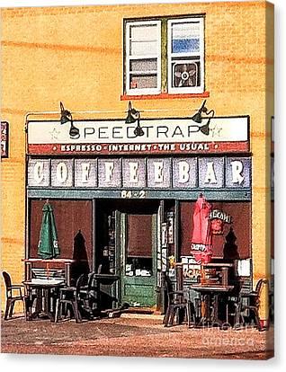 Speedtrap Coffeebar Canvas Print
