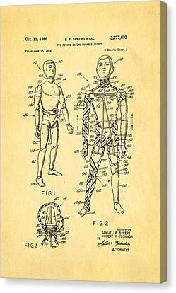 Speers G I Joe Action Man Patent Art 1966 Canvas Print by Ian Monk