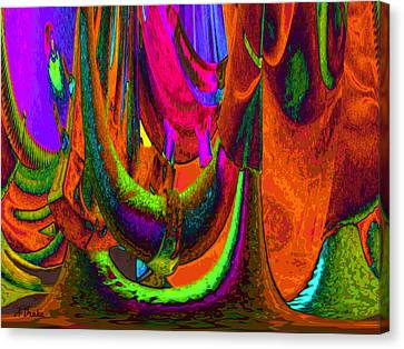 Spelunking On Venus Canvas Print