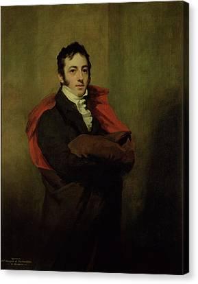 Cravat Canvas Print - Spencer, 2nd Marquess Of Northampton, 1821 by Sir Henry Raeburn