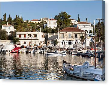 Spetses Island Old Harbour Canvas Print