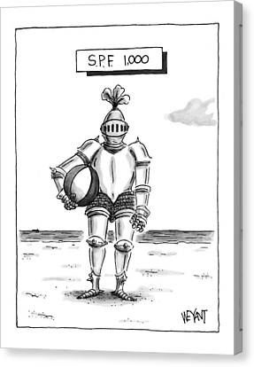 Armor Canvas Print - 's.p.f. 1,000' by Christopher Weyant