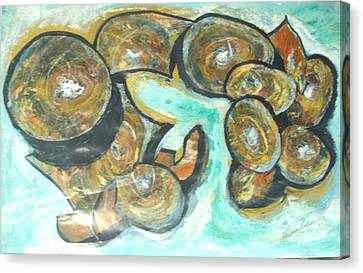 Canvas Print featuring the painting Spheres And Kabbalah by Esther Newman-Cohen