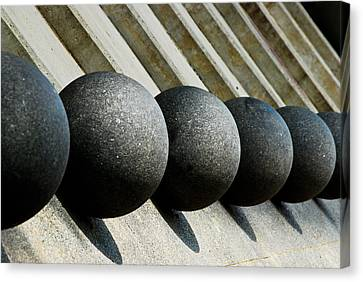 Spheres And Steps Canvas Print