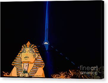 Sphinx And Luxor Hotel Beam Las Vegas - Pop Art Style Canvas Print by Ian Monk