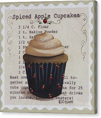 Spiced Apple Cupcake Canvas Print