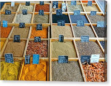 Labelled Canvas Print - Spices And Herbs by Olivier Le Queinec