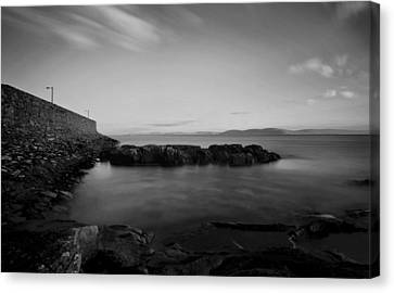 Spiddal Pier Canvas Print by Peter Skelton