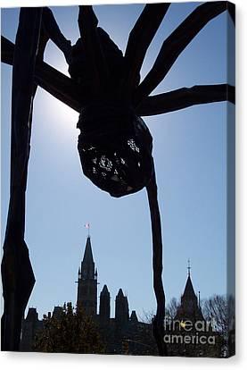 Spider Attacks Parliament Canvas Print by First Star Art