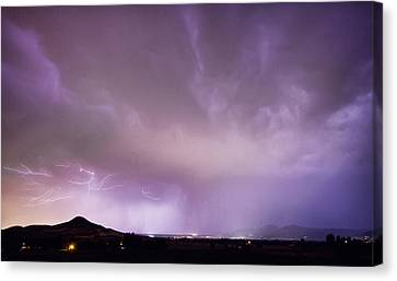 Spider Lightning Above Haystack Boulder Colorado Canvas Print by James BO  Insogna