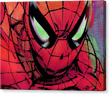 Spider-man Pop Horizontal Canvas Print by Tony Rubino