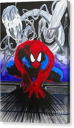 Spider-man Watercolor Canvas Print