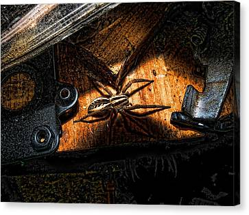Canvas Print featuring the digital art Spider Of The Midnight Lite by Robert Rhoads