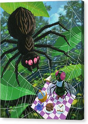 Spider Picnic Canvas Print