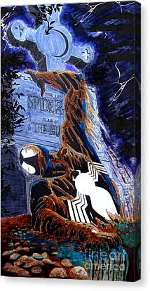 Spider Resurrection Canvas Print by Justin Moore