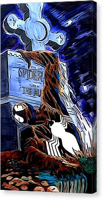 Spider Resurrection Painting Canvas Print by Justin Moore