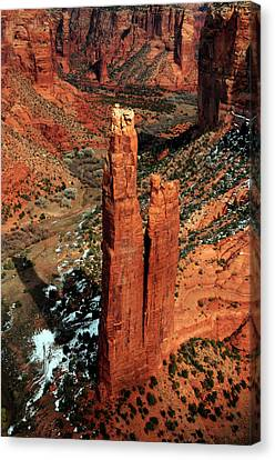 Spider Rock, Canyon De Chelly, Arizona Canvas Print by Michel Hersen