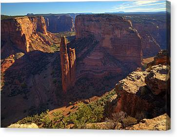Canvas Print featuring the photograph Spider Rock Sunrise by Alan Vance Ley
