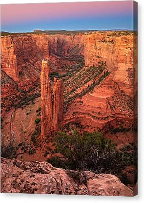 Spider Rock Sunset Canvas Print