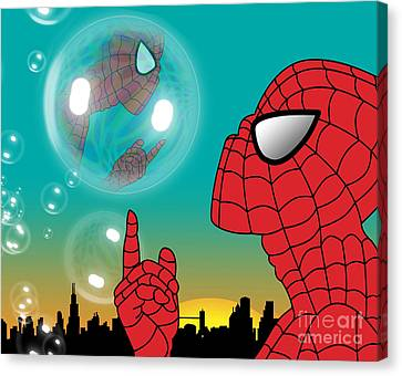 Spiderman 4 Canvas Print by Mark Ashkenazi