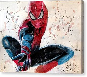 Dc Universe Canvas Print - Spiderman by Daniel Piskorski