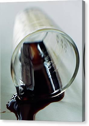 Spilled Balsamic Vinegar Canvas Print by Romulo Yanes